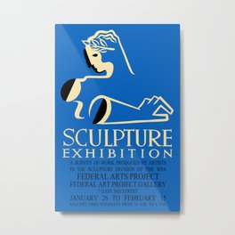 Sculpture Exhibition Design Metal Print