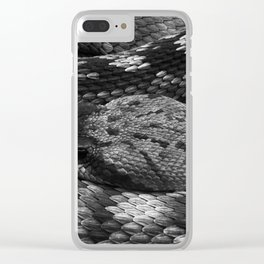 Diamondback Rattlesnake Clear iPhone Case