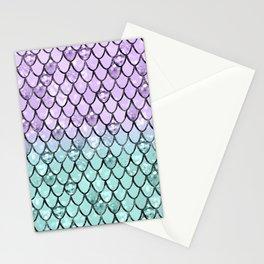 Mermaid Princess Glitter Scales #2 #shiny #pastel #decor #art #society6 Stationery Cards