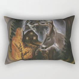 House In The Woods Rectangular Pillow