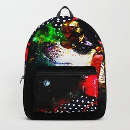 classy chihuahua dog lady splatter watercolor Backpack