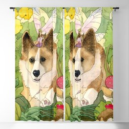 The Faerie and the Welsh Corgi Blackout Curtain