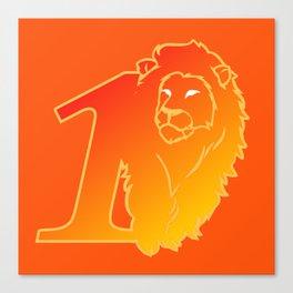 Lion No.1 Canvas Print
