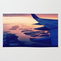 plane Area & Throw Rugs featuring Plane by Leah Galant