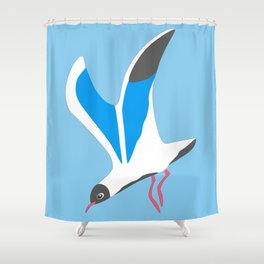 A seagull Shower Curtain