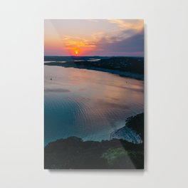 Beautiful Sunset in Austin Metal Print
