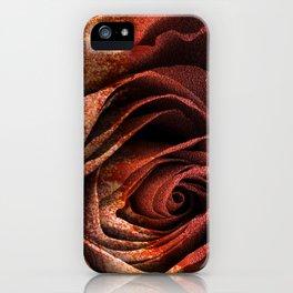 Bleeding Rust Rose iPhone Case