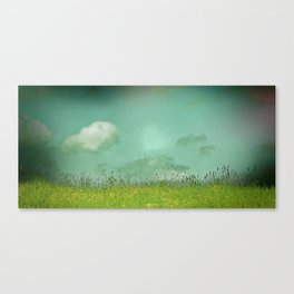 Daydreaming in the meadow - textured photography Canvas Print