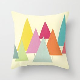 Fir Trees Throw Pillow