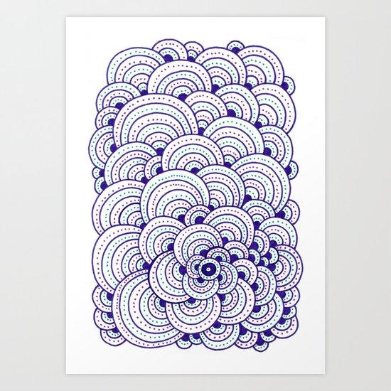 Dot Cluster Art Print