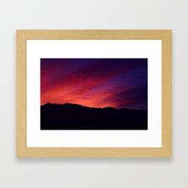 SW Mountain Sunrise - 5 Framed Art Print