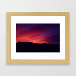 SW Mountain Sunrise - 5 Framed Art Print