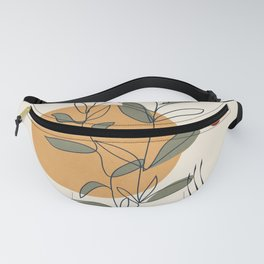 Minimal Line Young Leaves Fanny Pack