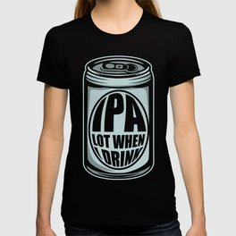 IPA Beer Drink Can Alcohol Funny Cold Gift T-shirt