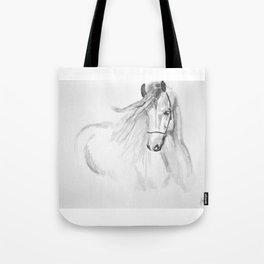 Black & White Horse Tote Bag