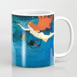 Bicycle girl on the sky Coffee Mug
