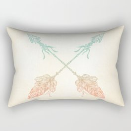 Tribal Arrows Turquoise Coral Gradient Rectangular Pillow