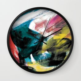 Abstract Artwork Colourful #3 Wall Clock