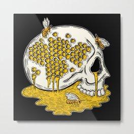 Honey Skull Metal Print