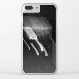 Being at the Drive-In B/W Clear iPhone Case
