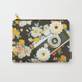 Floral Vintage Camera (Color) Carry-All Pouch