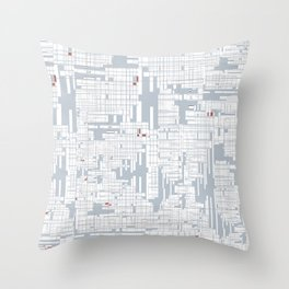 Grid in Grey Throw Pillow