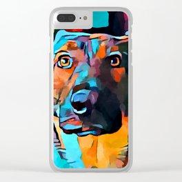 German Shepherd 7 Clear iPhone Case