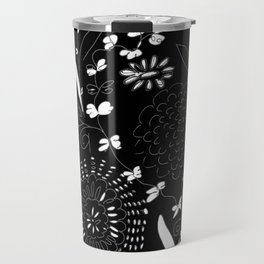 black toile by cocoblue Travel Mug