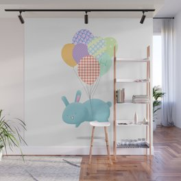 Floating Rabbit Wall Mural