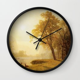 Kings River Canyon California 1874 By Albert Bierstadt | Reproduction Painting Wall Clock