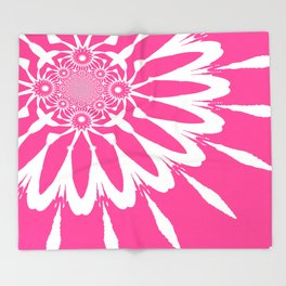 The Modern Flower pink Throw Blanket