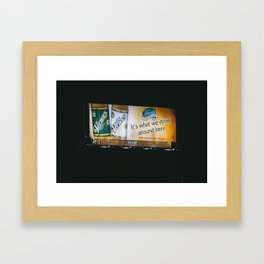 Vernors Framed Art Print