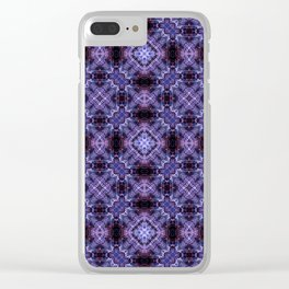 Lavender Moroccan Bohemian Tile Pattern Clear iPhone Case
