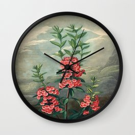 Pink Floral The Narrow-leaved Kalmia : Temple of Flora Wall Clock