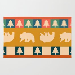 Multicolored bear pattern Rug