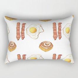 Bacon, eggs, and cinnamon buns Rectangular Pillow