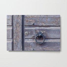 The Door knocker Metal Print