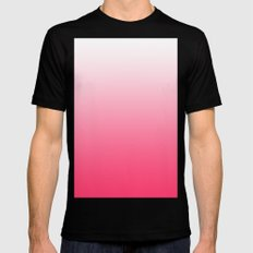 ombre pink dreams Mens Fitted Tee MEDIUM Black