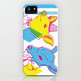 Circus Taxidermy freakshow birthday pair iPhone Case