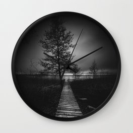On the wrong side of the lake 9 Wall Clock
