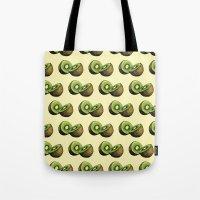kiwi Tote Bags featuring Kiwi by Sara Soto