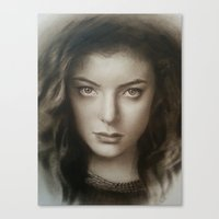 lorde Canvas Prints featuring Lorde by David Nash