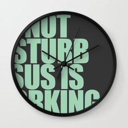 Jesus is Working Wall Clock