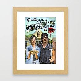 Greetings from Carol's Framed Art Print