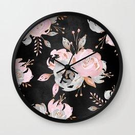 Night Roses 2 Wall Clock