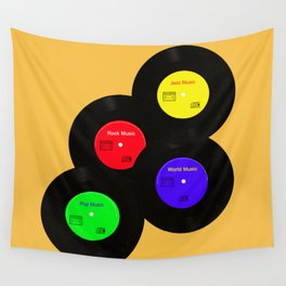Vinyls Wall Tapestry