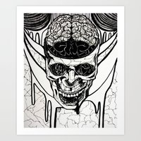 Brain Melt Art Print