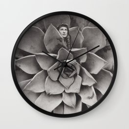 Succulent Woman Wall Clock
