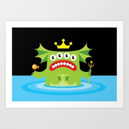 The Queen Of The Deep. Art Print