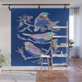 Floral and birds Avte. Wall Mural